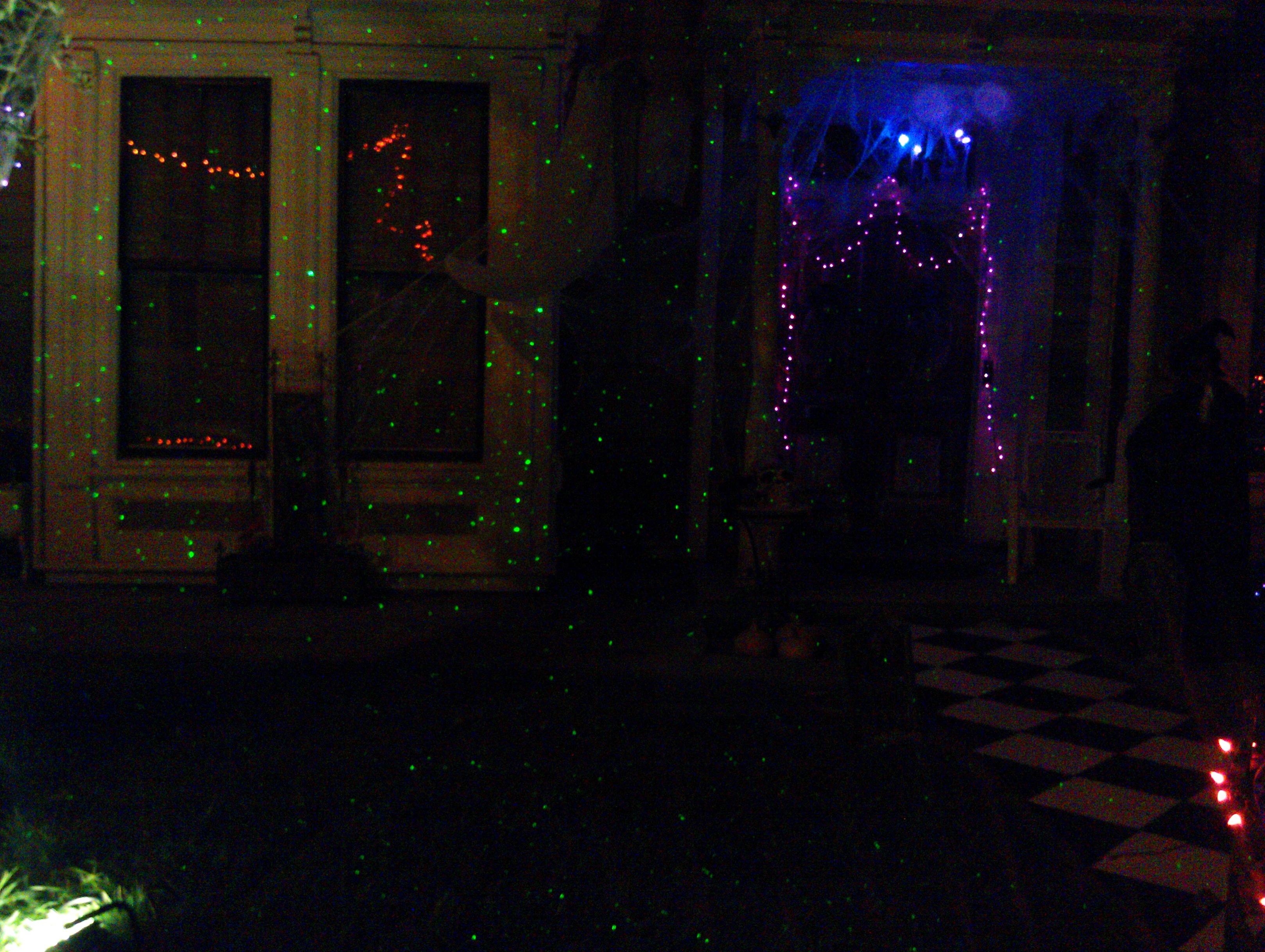 Laser Starfields For Halloween Yard Displays In Nevada