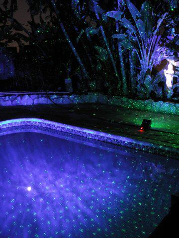 PHOTO GALLERY OUTDOOR LANDSCAPE Laser Starfield Projectors using BlissLights Spright  Spright