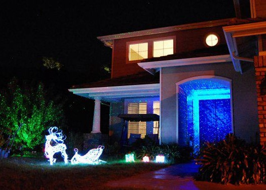 Photo gallery outdoor landscape laser starfield projectors using blisslights blue spright projector a blisslight mozeypictures Gallery