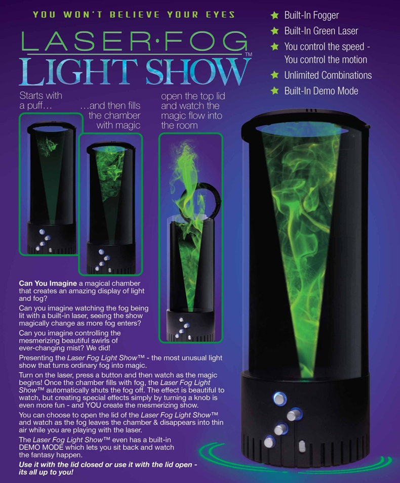 the new laser fog light show is ready to order for christmas presents and holiday decorations only a few hundred of these light shows are available before