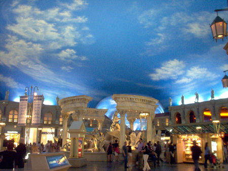 Las Vegas Caesars Palace Forum Shops Feature Laser