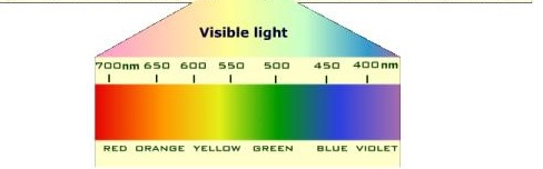visible spectrum light nm