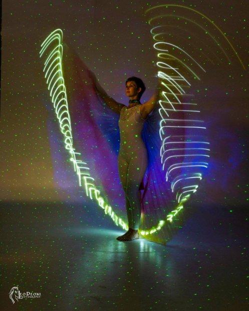 sarah in laser wings