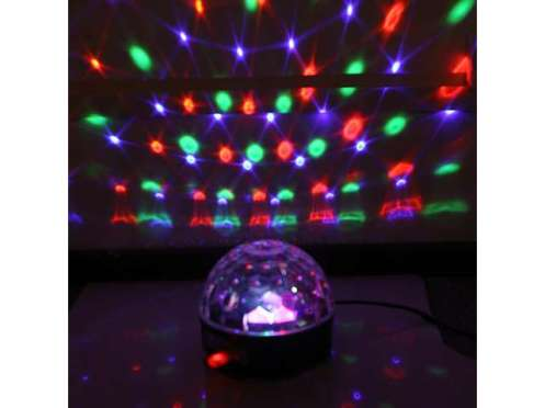 LED crystal ball colored