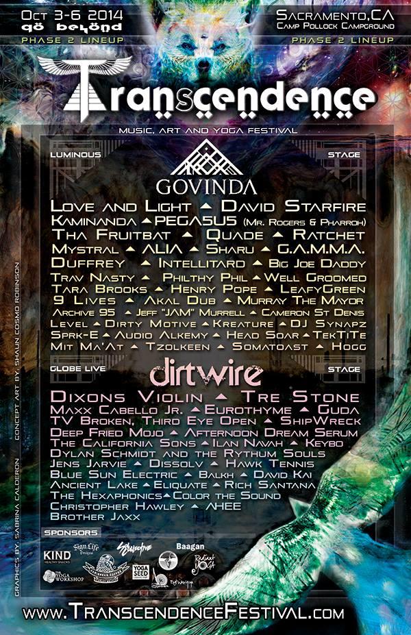 Transcendence poster line up