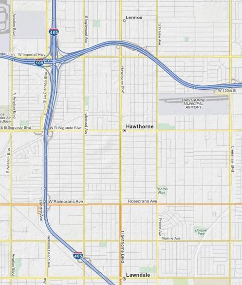 hawthorne boulevard map1