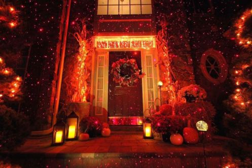 Halloween outdoor - Halloween laser light show ...