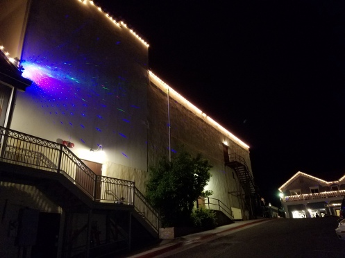 Prince Memorial LaserandLights' display w-KVMR