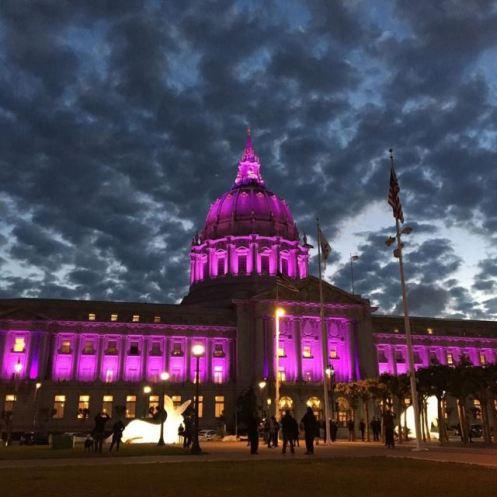 SF city hall purple for PRINCE